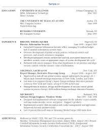 information technology resume sample it sample technology resume