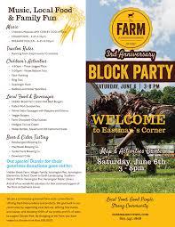 Block Party Flyer 2015 Block Party Flyer Image The Farm At Eastmans Corner