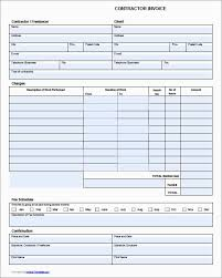 Download Simple Invoice Template Contractor Invoice Template Contractorbilling Free Download