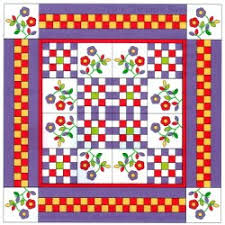A Pieced Border Looks Complicated & Checkerboard Pieced Border Design. easy quilt borders Adamdwight.com