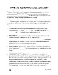 Leases and rental agreements for the leasing of vacant these forms can be used in order to lease vacant lots, farms, hunting land and other premises that you can save the file for later use or print it immediately. Residential Lease Agreement Template Addictionary