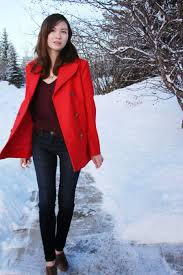winter fashion h m joe s jeans red jacket club monaco