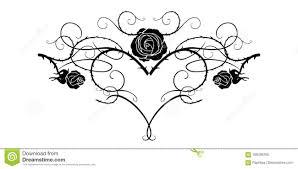 черный цветок татуировки иллюстрация вектора иллюстрации