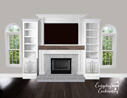 Fireplace Built Ins Natural And Neutral Family Room Inspiration Entertainment