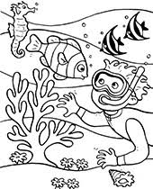 Check out our ocean coloring kids selection for the very best in unique or custom, handmade pieces from our shops. Water Animals Coloring Pages For Children Topcoloringpages Net