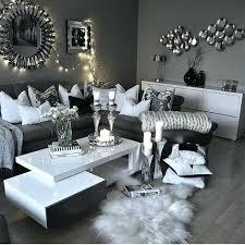 black grey and white living room decor