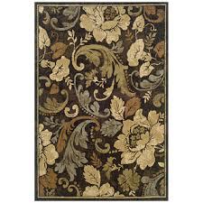 oriental weavers camille fleur brown 8 ft x 10 ft area rug