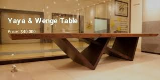 expensive wood dining tables. Yaya \u0026 Wenge Table Is Another Piece From A Pure African Origin. The Legs Are Made Using And Top Of Yaya. Expensive Wood Dining Tables B