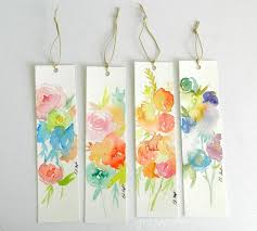 i love turning my left over watercolor paper into flowery bookmarks the rest i just test out painting ideas on