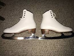 Details About Riedell Ladies Figure Skates Paired Mk Double Star Blades Size 6 5