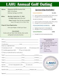 Lahu Golf Outing Flyer 2018v1 Tikia Consulting Group Inc