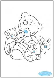 Small Picture Tatty Teddy colouring sheet with his My Blue Nose Friends
