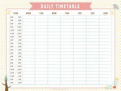 Schedule Table Template School Timetable Template Free Download Stuff To Buy