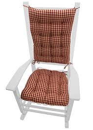 rocking chair cushions. Simple Cushions Barnett Products Rocking Chair Cushions  Checkers Red And Tan Size  ExtraLarge In C