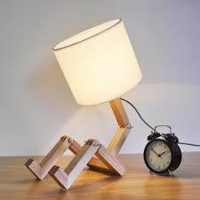 Wooden Robot Led Desk Lamp