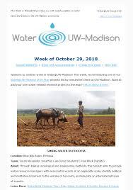 Weekly Newsletter Water Uw Madison Uw Madison