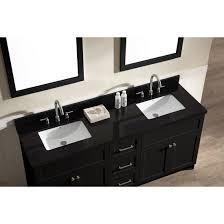 Bathroom Vanity Black Ace 73 Inch Transitional Double Sink Bathroom Vanity Set Black