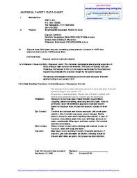 Material Safety Data Sheet Msds For Breath Scan Employment Drug