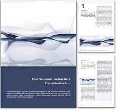 Royalty Free Abstract Ocean Microsoft Word Template In Blue