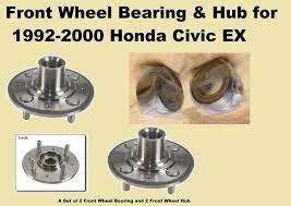 1992 2000 Honda Civic Ex Front Wheel Bearing And Hub With Abs Sell In Pair 2000 Honda Civic Honda Civic Ex Honda Civic