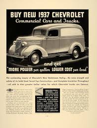 1937 Vintage Ad Chevrolet Commercial Cars Trucks Chevy - ORIGINAL ...