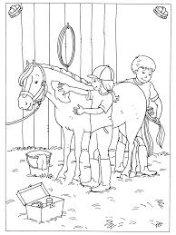 Kleurplaten Paradijs Kleurplaat Lekker Je Paard Verzorgen