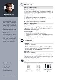 Orienta Free Professional Resume Cv Template Gray Portfolio