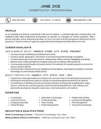 Gallery Of Cosmetology Resume Template
