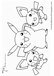 Free Printable Pikachu Coloring Pages For