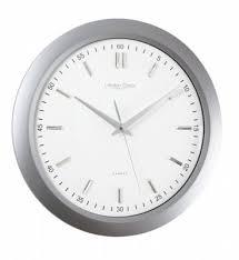 london clock company sweep gloss silver
