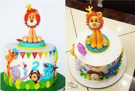 Birthday Cakes On Invaber Custom Made Baby Birthday Multi Tier