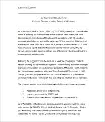 Format For An Executive Summary 31 Executive Summary Templates Free Sample Example