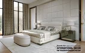 Stylish Art Deco Bedroom Interior Design And Furniture, White Bedrooms With  Wall Panel