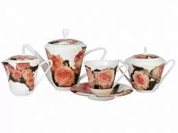 <b>Сервиз чайный</b> Сад Лето, 6 персон <b>15 предметов</b>, арт. 81.23798 ...