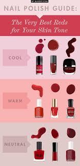 Skin Tone Nail Polish Color Matching Chart Best Red Nail Polish For Your Skin Tone Nails Design With