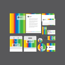 Example Of Company Profile Template Stunning Rainbow Company Profile Template Vector Free Vector Download In