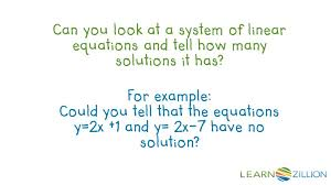 has no solution for example could you tell that the equations y 2x 1 and y