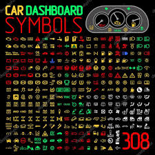 Dash Indicator Light Symbols Vector Car Dashboard Symbols Vector Collection Of Car