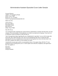 Sample Cover Letter For Admin Assistant Letter Idea 2018