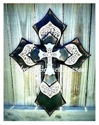 wall cross decor crosses incredible inspiration decorative for home stacked art rustic wooden