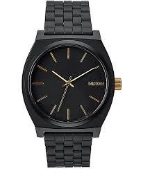 nixon watches get shipping at zumiez bp nixon time teller matte black gold analog watch
