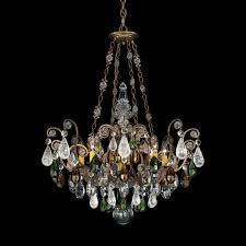schonbek renaissance rock crystal 8 light pendant