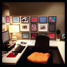 office desk decorations. Astounding Unique Cubicle Office Decorating Ideas With Dollar Tree Frames White Square Table And Black Chairs Minimalist Desk Decorations B