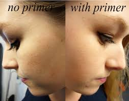 apply the primer throughout your face especially over red areas or oily areas and any blemishes that you want to cover