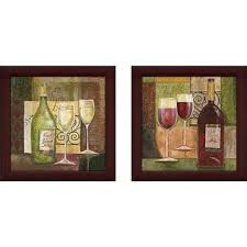 red wine bar wall art set of 2 matching set on wine bar wall art with set of 2 traditional wooden wine goblets framed wall art by studio