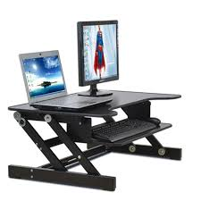 easyup height adjule sit stand desk riser foldable laptop desk stand with keyboard tray notebook