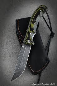 <b>Нож складной</b> Корсак сталь дамаск накладки микарта