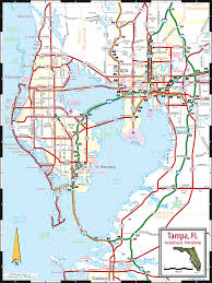 tampa st petersburg  clearwater map