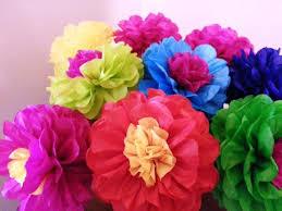 Tissue Paper Flower Decor Tissue Paper Fiesta Flowers Set Of 8 Tissue Paper Flower Etsy