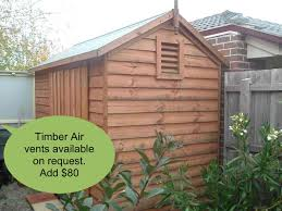 2 4m x 3 5m timber shed with double doors